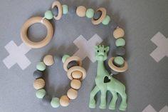 JGhomedeco Set speelkoord+bijtring mint groen