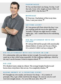 Modern Family Phil quotes  My husband is SOOOO PHIL...(and I am so Claire) and my husband is a Realtor even!!