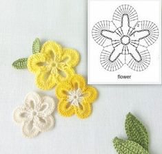 Crochet Butterfly Pattern, Crochet Flower Tutorial, Diy Crochet, Crochet Flowers, Crochet Patterns, Quiet Book Patterns, Cross Stitch Flowers, Small Flowers, Crochet Animals