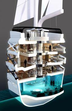 Première salle de cinéma IMAX à bord d'un super yacht http://journalduluxe.fr/yacht-cinema-imax/