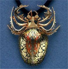 john paul miller.silver.spider 2.gold, enamel