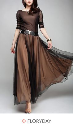 Shop Floryday for affordable color block long sleeve maxi a-line dress. Floryday offers latest color block long sleeve maxi a-line dress collections to fit every occasion. Long Sleeve Maxi, Maxi Dress With Sleeves, Dress Skirt, Dress Up, Dress Long, Long Fall Dresses, Long Gowns, Affordable Dresses, Trendy Dresses
