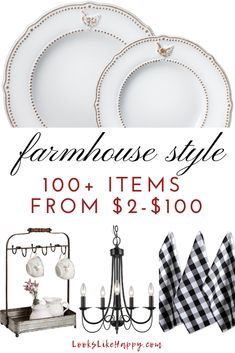 Farmhouse Style: 100+ Items from $2-$100 | Make your home cozy with these farmhouse finds! Pin now, read later!  #farmhouse #interiordesign