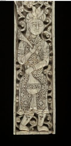 Frame (part of). Made of carved ivory. Mamluk dynasty; 12thC; Spain; Egypt