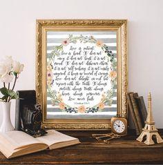 Christian Bible Quotes Verses Prints Wall art от AtticOfMemories #christian #bible #quotes