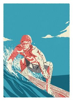 Surfing Poster / Hey Coso