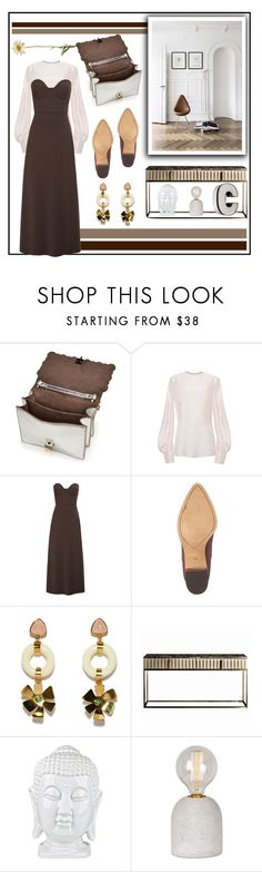 """Brownie Points"" by cherieaustin on Polyvore featuring Fendi, Lake, Halogen, Lizzie Fortunato and Ren-Wil"