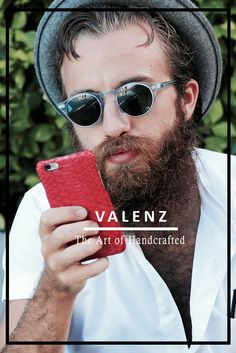 Love the beautiful material used on these Valenz Handmade iPhone cases.