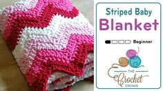 Crochet Striped Baby Blanket I could resist giving the new Bernat Blanket Stripes yarn a try. With some yarns, I
