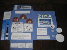 Zima - lapbook