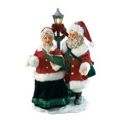 MY SANTA LIST: Department 56 Possible Dreams Clothtique 25th Anniversary Carolers Christmas Traditions Santa and Mrs. Claus Figurine by Department 56