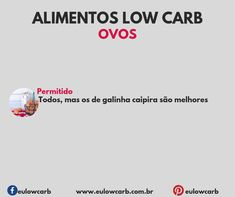 LOW CARB: ALIMENTOS PERMITIDOS, MODERADOS E PROIBIDOS Light Diet, Low Carbon, Low Carb Diet, Ketogenic Diet, Good Food, Food And Drink, Cooking Recipes, Dieta Low, Health