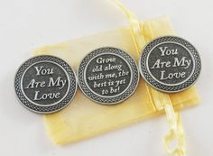 Set of 3 You Are My Love Pocket Tokens with by CourageInStone