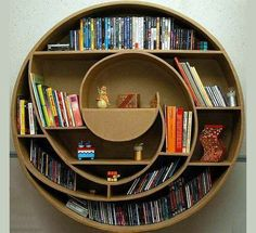 20 Most Creative And Unusual #Bookshelf #Designs