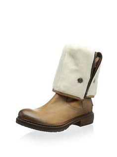 Manas Women's Renda Foldable 3/4 Boot (Tan)