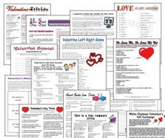 Printable Valentine's Day Games