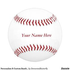 Personalize A Custom Baseball With Your Name