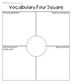 Woordenschat vierkant