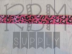 Cheetah Ribbon  Pink  by RoyalBowMakerSupply on Etsy