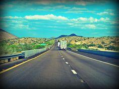 Interstate 40, Mojave Desert, near Hackberry, Arizona