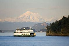 Image detail for -Ferry boat sailing through the San Juans Islands, Washington, USA