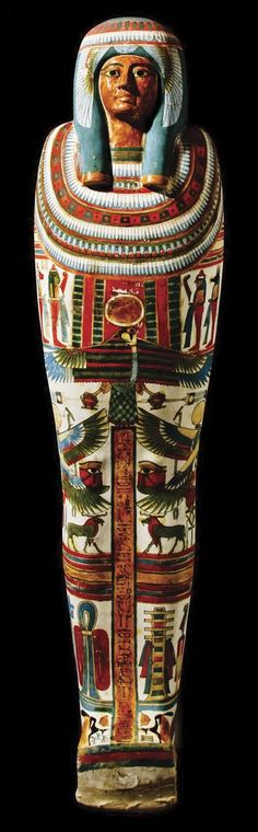 "The Mummy & Coffin of Meresamun  --  She was a ""Singer in the Interior of the Temple of Amun"" at Karnak & part of a divine choir that sang & made music during temple rituals."