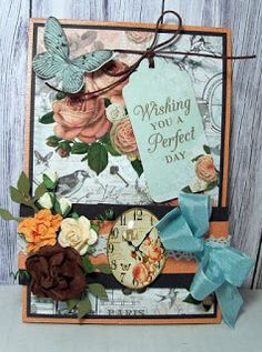 "Made with the lovely ""ooh la la"" collection from Kaisercraft. It is called a Twist and Pop Card"
