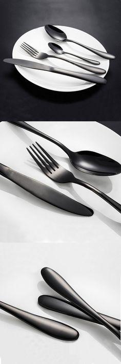 Food grade stainless steel, Black Gold Flatware,mirror surface polishing