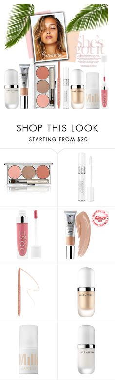 """Summer Makeup"" by hollowpoint-smile ❤ liked on Polyvore featuring beauty, Chantecaille, Christian Dior, Marc Jacobs and MILK MAKEUP"