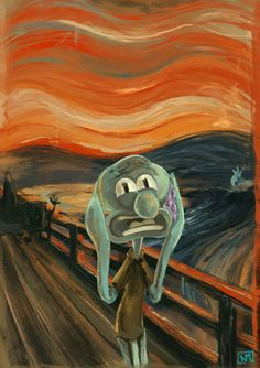 Happy Square Sponge Photo: Squidward Art : Squidward Art wallpaper probably with a respirator in The Happy Square Sponge Club Kunst Inspo, Art Inspo, Art And Illustration, Aesthetic Painting, Aesthetic Art, Aesthetic Drawing, Cartoon Wallpaper, Wallpaper Art, Artistic Wallpaper