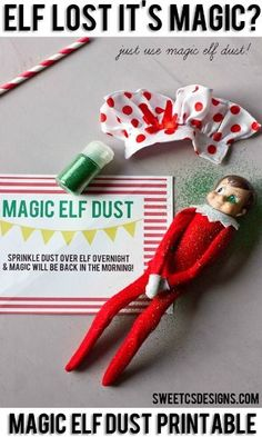 Elf lost it's magic? Here's a simple solution! Free Elf on the Shelf Printables