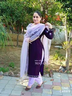 Designer Punjabi Suits Patiala, Punjabi Suits Designer Boutique, Indian Designer Suits, Salwar Suits, Salwar Suit Neck Designs, Neck Designs For Suits, Salwar Designs, Blouse Designs, Embroidery Suits Punjabi