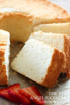 THE BEST Angel Food Cake from scratch by Chef In Training