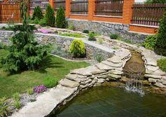 jardins aquatiques idée aménagement extérieur bassin d'eau pierre