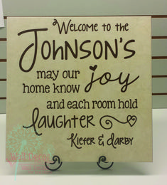 Welcome Family Name Personalized Vinyl Wall Decals Quote - Wall Decor Plus More