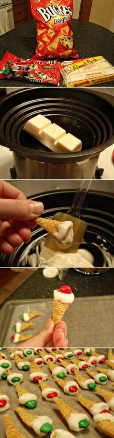 White Chocolate Dipped Bugle Bites | Recipe By Photo