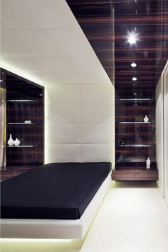Ebony and Leather Defining The Interiors of a Highly Modern Apartment in Moscow