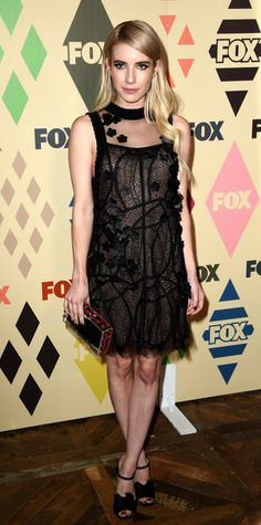 Actress Emma Roberts arrives at the FOX TV All-Star party during the 2015 Summer TCA Tour at Soho House on August 6, 2015 in West Hollywood, California.