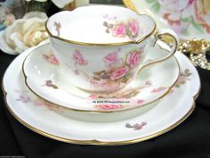 cups+&+saucers+|+...+Jones+Crescent+Tea+Cup+And+Saucer+Trio+Floral+Cups+&+Saucers+photo