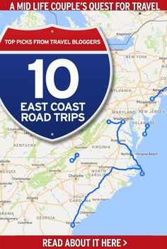 A great compilation of east coast road trips starting in Maine all the way to the Florida Keys. Find new destinations to add to your USA road trip list or maybe even a chance to rediscover old favourites along the way! #eastcoastroadtrips #roadtripplanning #planningaroadtrip #usaroadtrips #