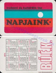 1974 - 1974_0610 - Régi magyar kártyanaptárak