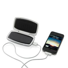 This amazing travel charger uses 2 big solar panels which are connected to the 800mAh rechargeable lithium battery to charge your mobile phone and MP3 player. The charger has an USB output and mini-USB input.