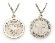Christian Sterling Silver Sports Medal - Boys Football