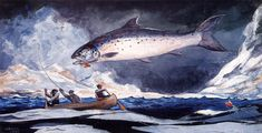 Winslow_Homer_-_A_good_pool,_Saguenay_River.jpg (1107×565)
