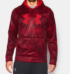 Men's UA Storm Armour® Fleece Big Logo Printed Hoodie in Size MD my chest is 38inch