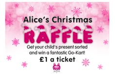Christmas raffle Your Child, Ticket, Charity, You Got This, Alice, Christmas, Xmas, Weihnachten, Yule