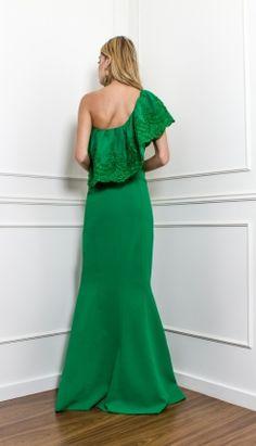 VESTIDO LONGO BABADO FENDA - VE30066-CA   Skazi, Moda feminina, roupa casual, vestidos, saias, mulher moderna