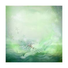 neptunes garden (87).jpg ❤ liked on Polyvore featuring backgrounds, ocean and green