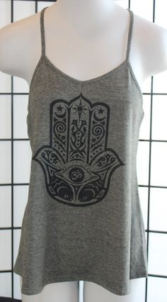 Hamsa Tank Top. Yoga Tank Top by CryptobioticDesigns on Etsy