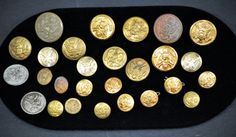 25 Military Nice Vintage Buttons Metal by SouthernSisAntiques